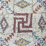 Byzentine mosaic with Swastika