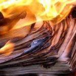 burning files